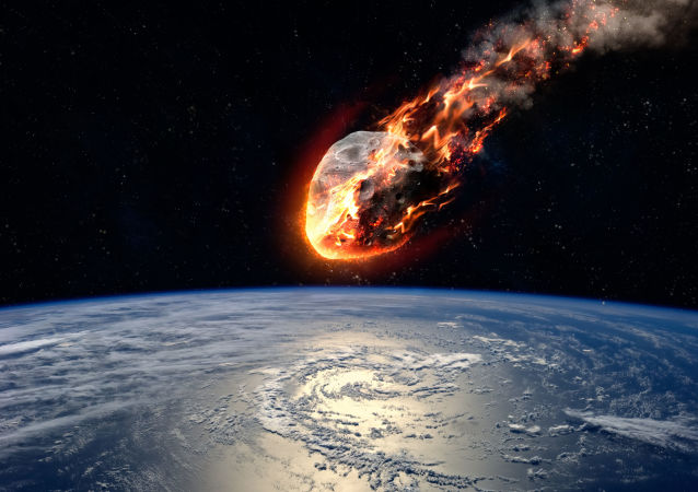 Meteorit hořící v atmosféře Země. Ilustrační foto