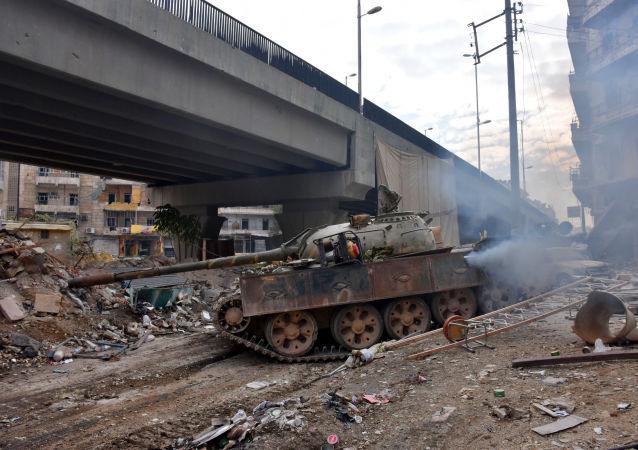 Syrská vojska v Aleppu
