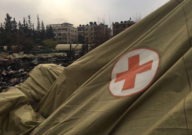 Mobilní nemocnice v Aleppu