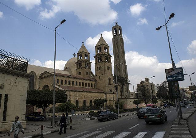Saint-Mark's Coptic Cathedral in Cairo's al-Abbassiya district (File)