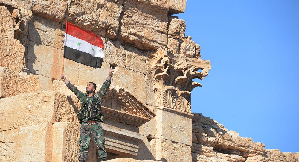 Palmýra po osvobození od bojovníků