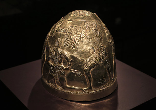 Zlatá helma Skytů ze 4. století před naším letopočtem