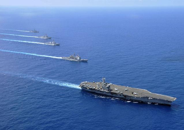 Americké letadlové lodě v Jihočínském moři