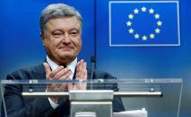 Petro Porošenko během summitu EU-Ukrajina