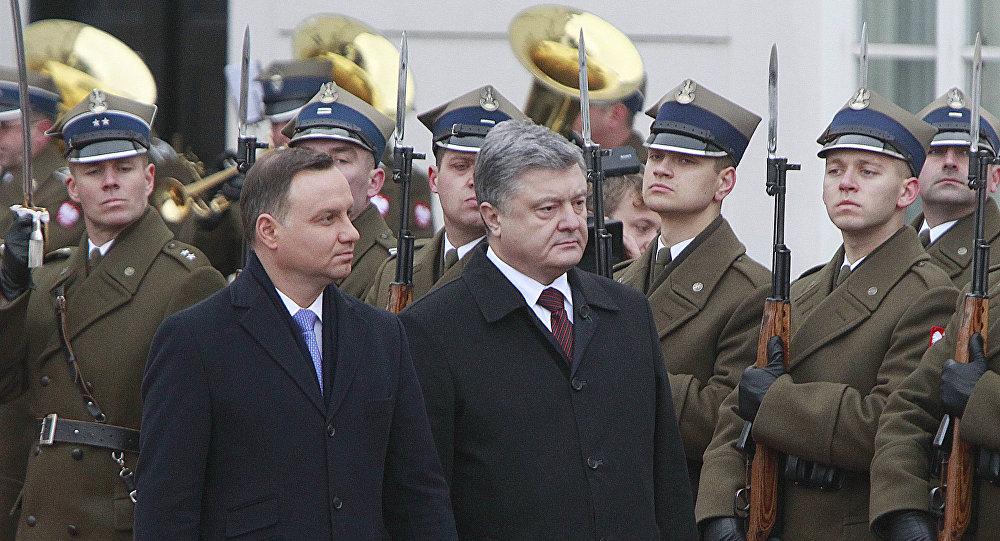 Polský prezident Andrzej Duda a ukrajinský prezident Petro Porošenko