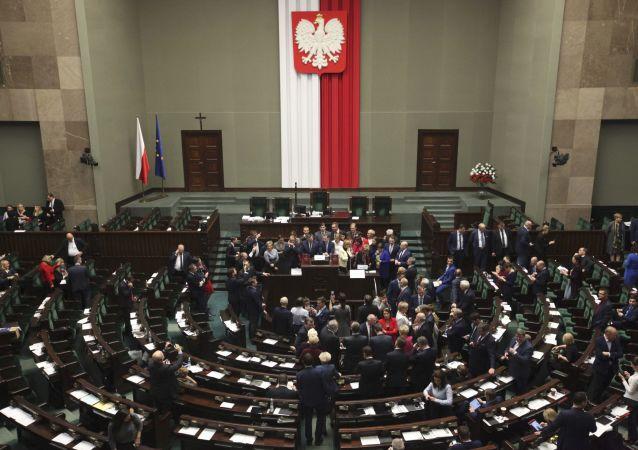 Zasedání Sejmu ve Varšavě