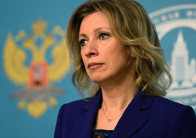 Oficiální představitelka Ministerstva zahraničních věcí Ruska Maria Zacharovová