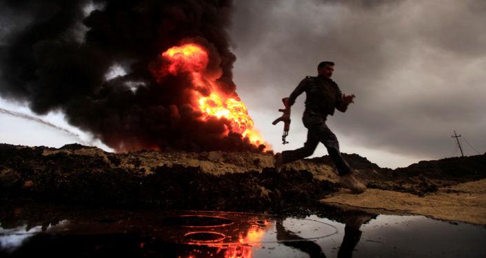 Požár ropných vrtů, Irák