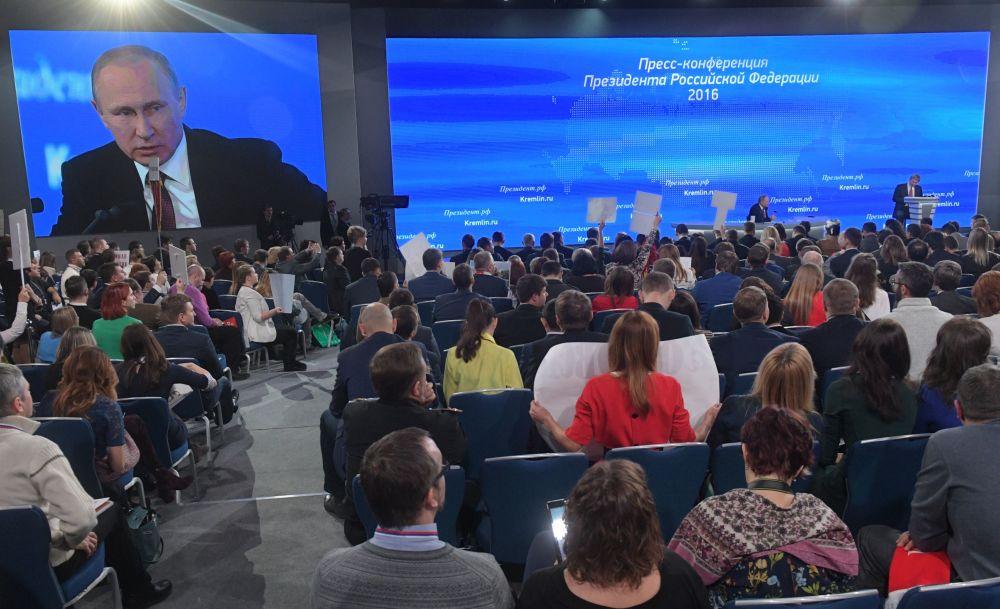 Velká tisková konference Putina