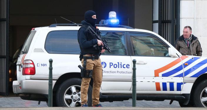 Belgická policie v Bruselu