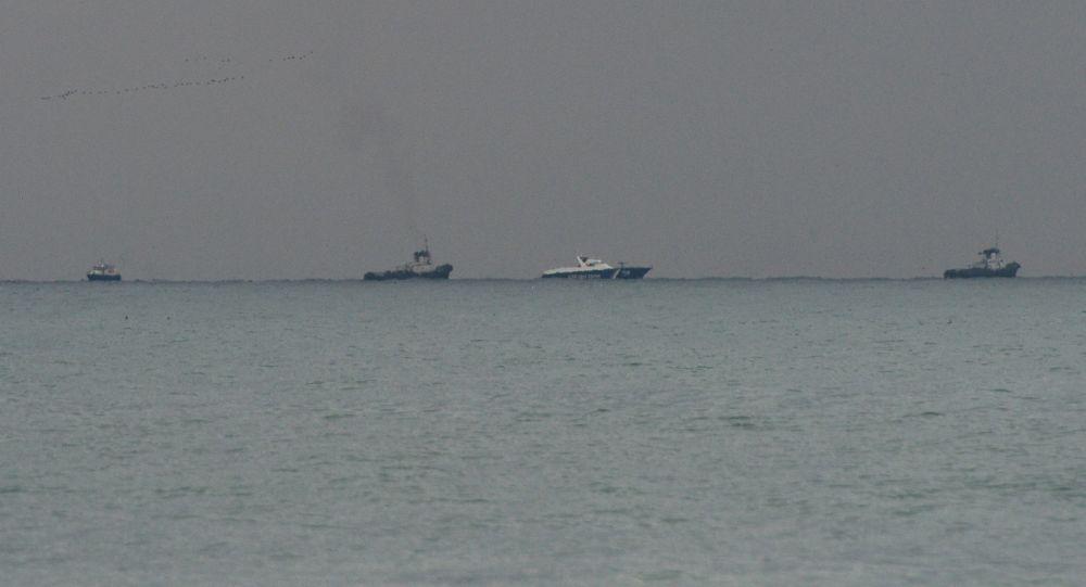 Místo padu letadla Tu-154 v Černém moři