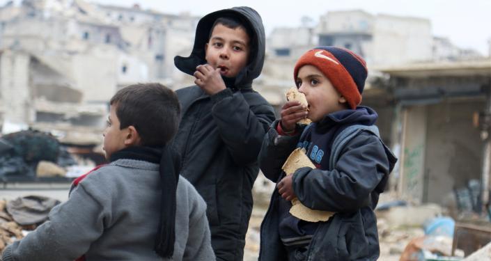 Děti v Aleppu. Ilustrační foto