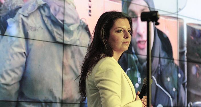 Šéfredaktorka mezinárodní informační agentury (MIA) Rossia Segodnia Margarita Simoňanová