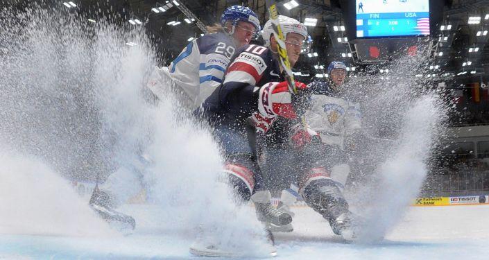 Hokejisté Finska a USA