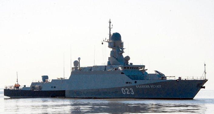 Ruská raketová korveta. Ilustrační foto