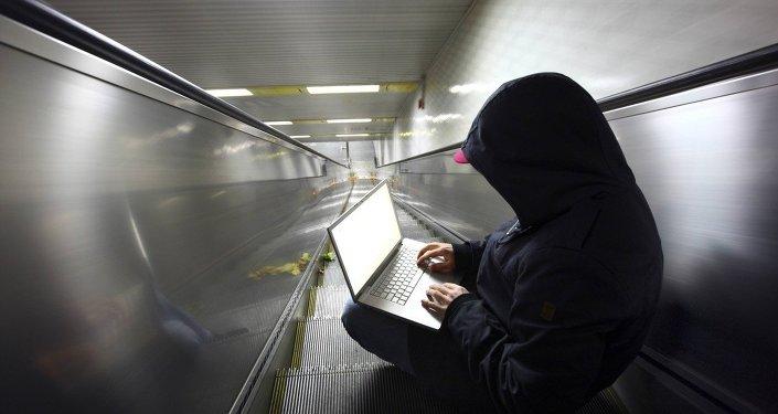 Hacker na pohyblivém schodišti
