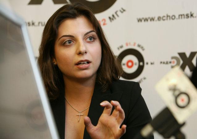 Šéfredaktorka Mezinárodní informační agentury Russia Today Margarita Simoňanová