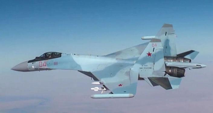 Ruská stíhačka Su-30 v Sýrii