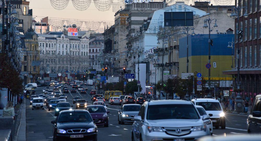 Ulice Khreshchatyk v Kyjevě