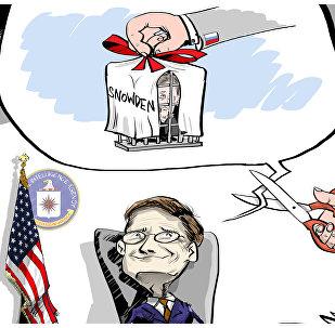 KARIKATURA. Vysněný dáreček CIA