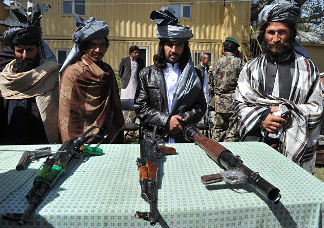 Zástupci radikální fronty Talibán (zakázaná v RF)