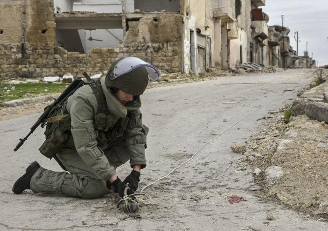 Ruští ženisté v Aleppu