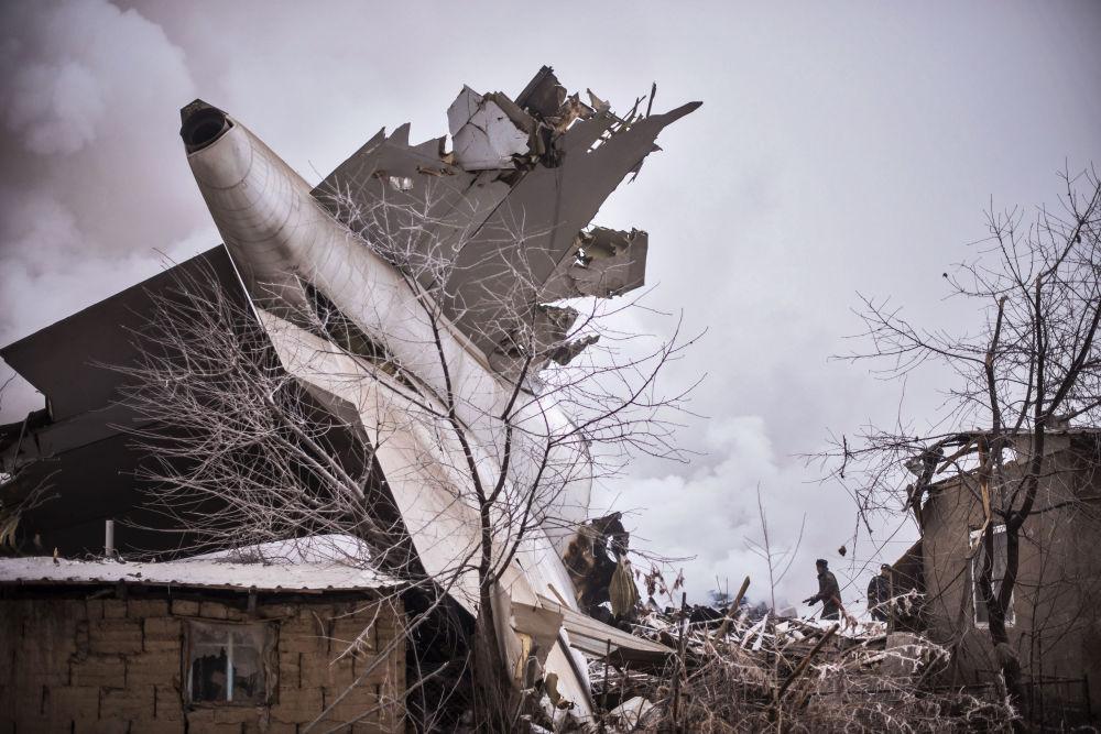 Na místě havárie nákladního letadla společnosti MyCargo Airlines v Kyrgyzstánu