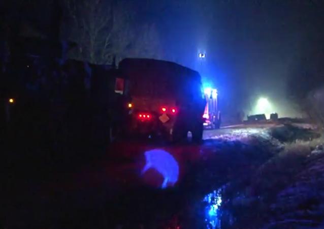 V Polsku náklaďák americké armády havaroval a vysypal náboje