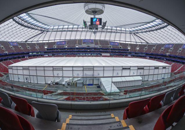 Národní stadion ve Varšavě. Ilustrační foto