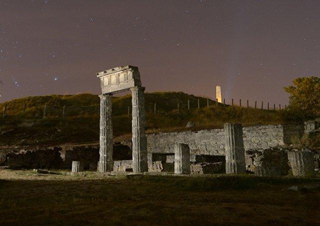 Ruiny prastarého města na hoře Mitridat v Kerči