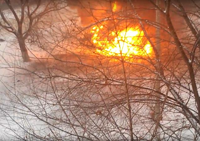 V centru Luhanska explodoval automobil