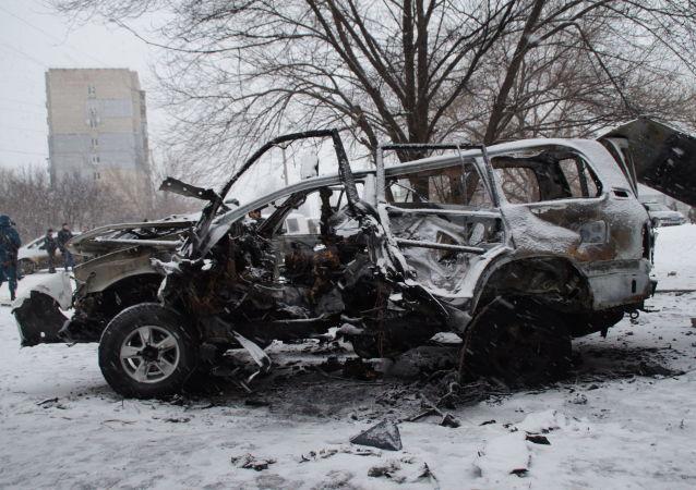 Auto náčelníka správy Lidové milice Olega Anaščenka