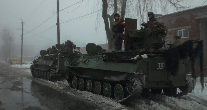 Ukrajinští vojáci v Avdějevce