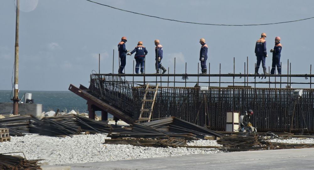 Stavbaři Krymského mostu