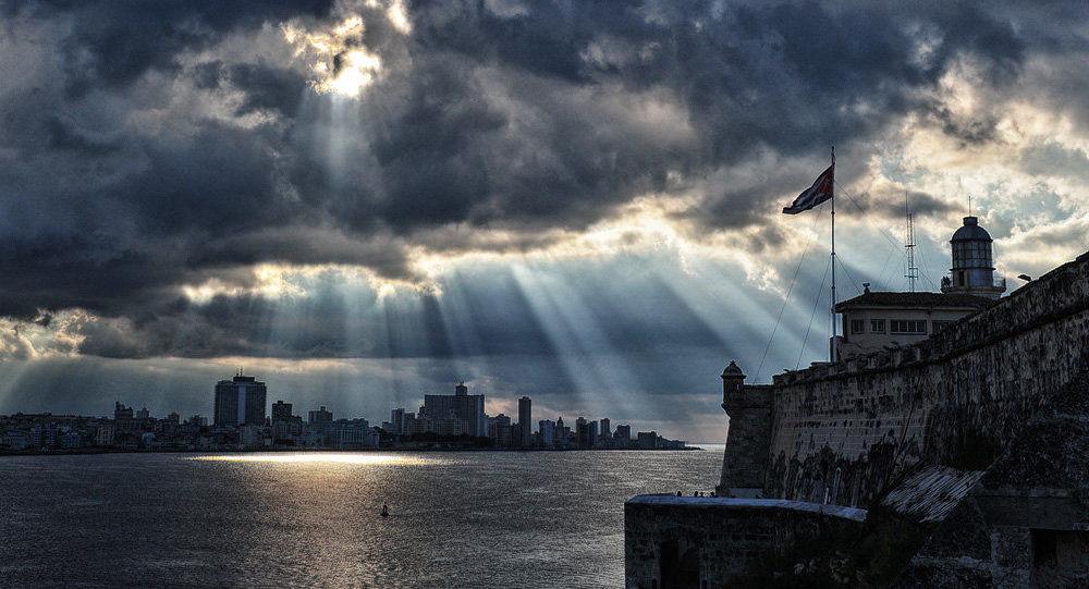 Pohled z pevnosti El Morro v Havaně, Kuba