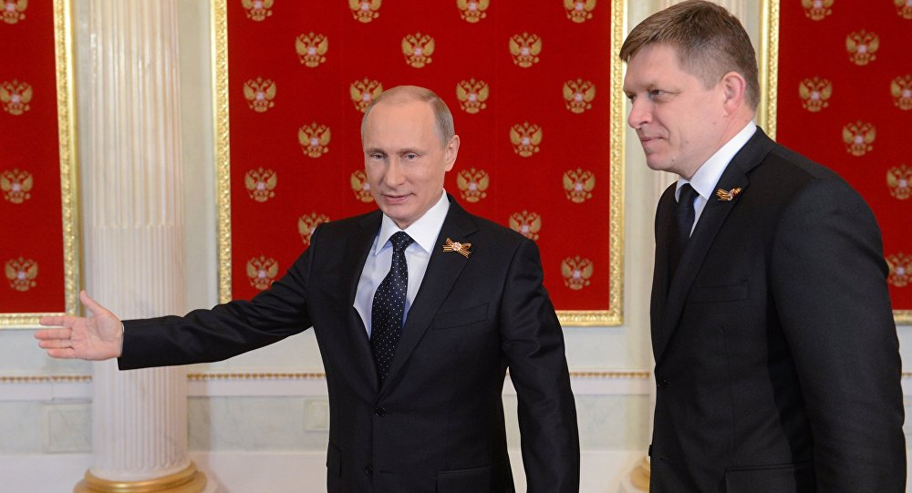 Vladimir Putin a Robert Fico