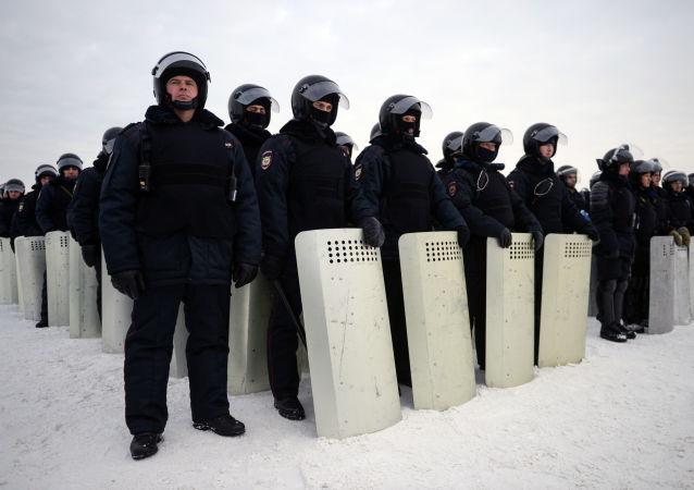 Cvičení Ruské národní gardy v Novosibirsku