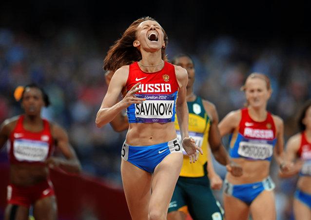 Ruská atletka Marie Savinovová. Archivní foto