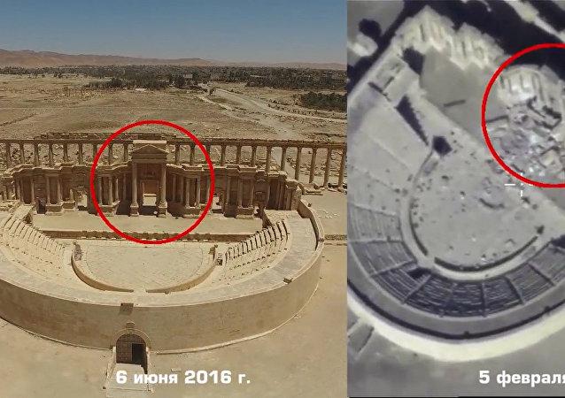 Ministerstvo obrany zveřejnilo video zničení teroristy IS památek v Palmýře