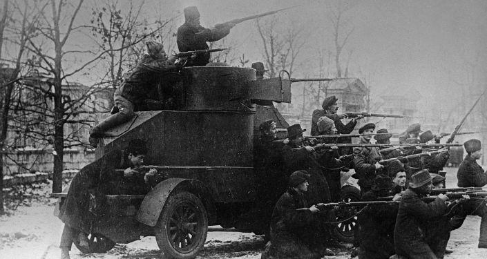 Začátek povstvání v Petrohradu. 1917