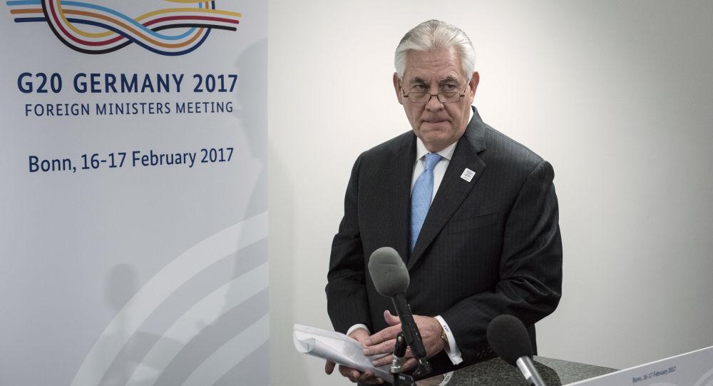 Americký ministr zahraničí Rex Tillerson v Bonnu