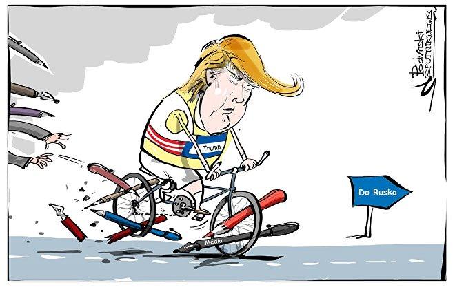 Trumpův útok na média