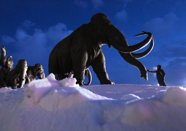 Pomník mamutů u Chanty-Mansijsku