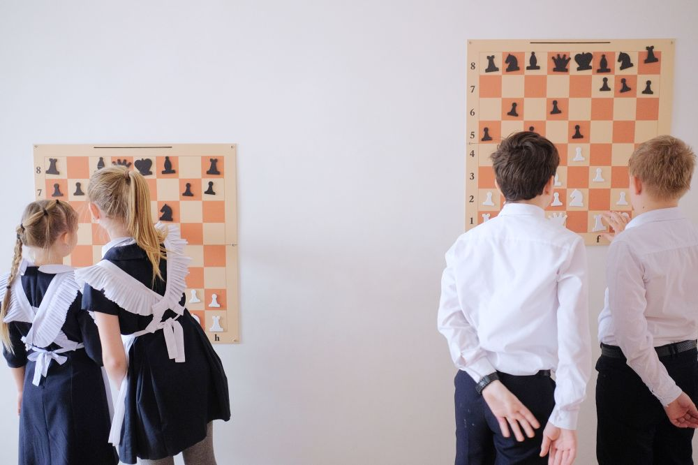 Školní šachový kroužek v Krasnodaru