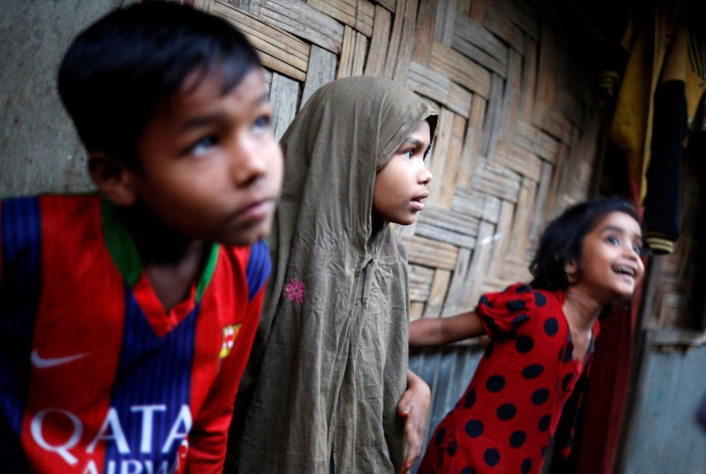 Děti z běženeckého táboru v Bangladéši