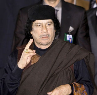 Muammar Kaddáfí. Archivní foto