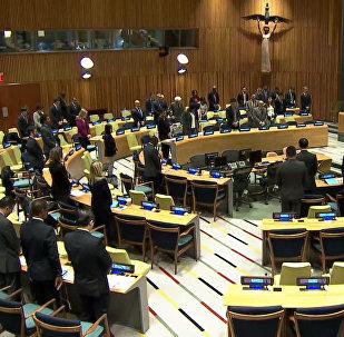 Minuta ticha na památku Čurkina na zasedání v OSN