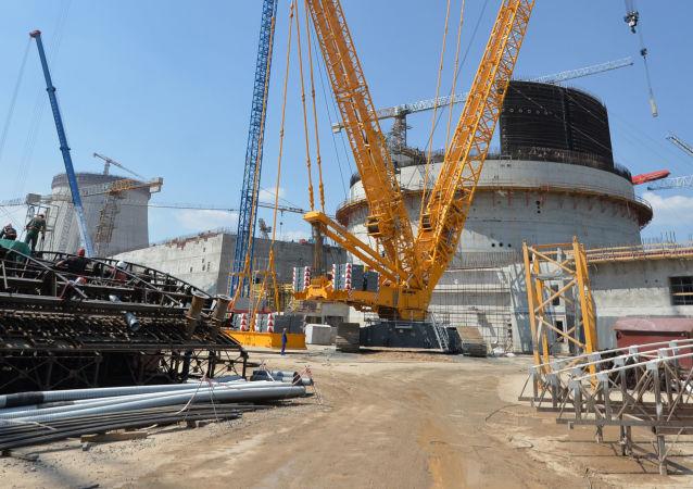 Budování Běloruské jaderné elektrárny