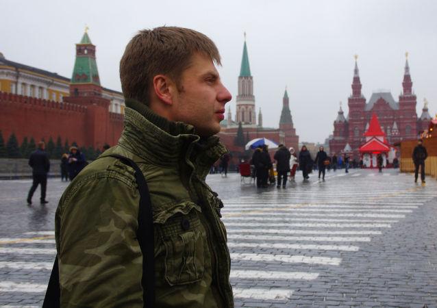 Ukrajinský poslanec Alexij Hončarenko v Moskvě