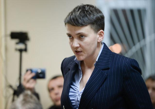 Ukrajinská poslankyně Naděžda Savčenková
